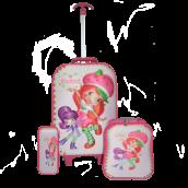 Children 3D Strawberry Short Cake 3Pc School Bag