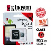 Kingston 16GB Class-10 MICRO SD with Adapter