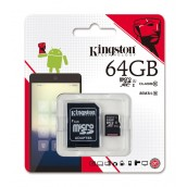 Kingston 64GB Class-10 MICRO SD with Adapter