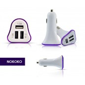 NOKOKO Tripple USB port vehicle Charger adapter