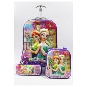 Children 5D Frozen 3Pc School Bag
