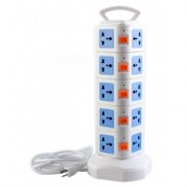 YIJIA Portable 20-Ports Universal type Power Extension Tower